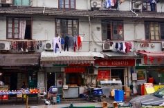 You can see the clothes and food hanging to dry.