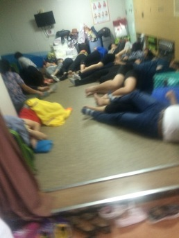 Inside a secret pic of one of the rooms. Everyones sleeping