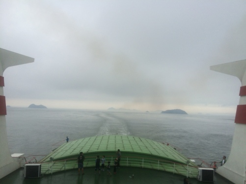 On the way ferry on the way back from Jeju to Mokpo