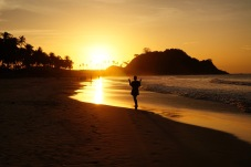 Sunset on Nacpan Beach