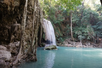 Erawan Falls - we swam here and little fish would nibble on your feet!